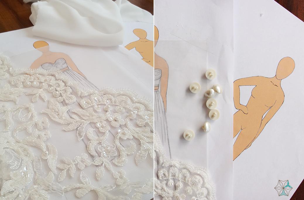 סקיצות שמלה