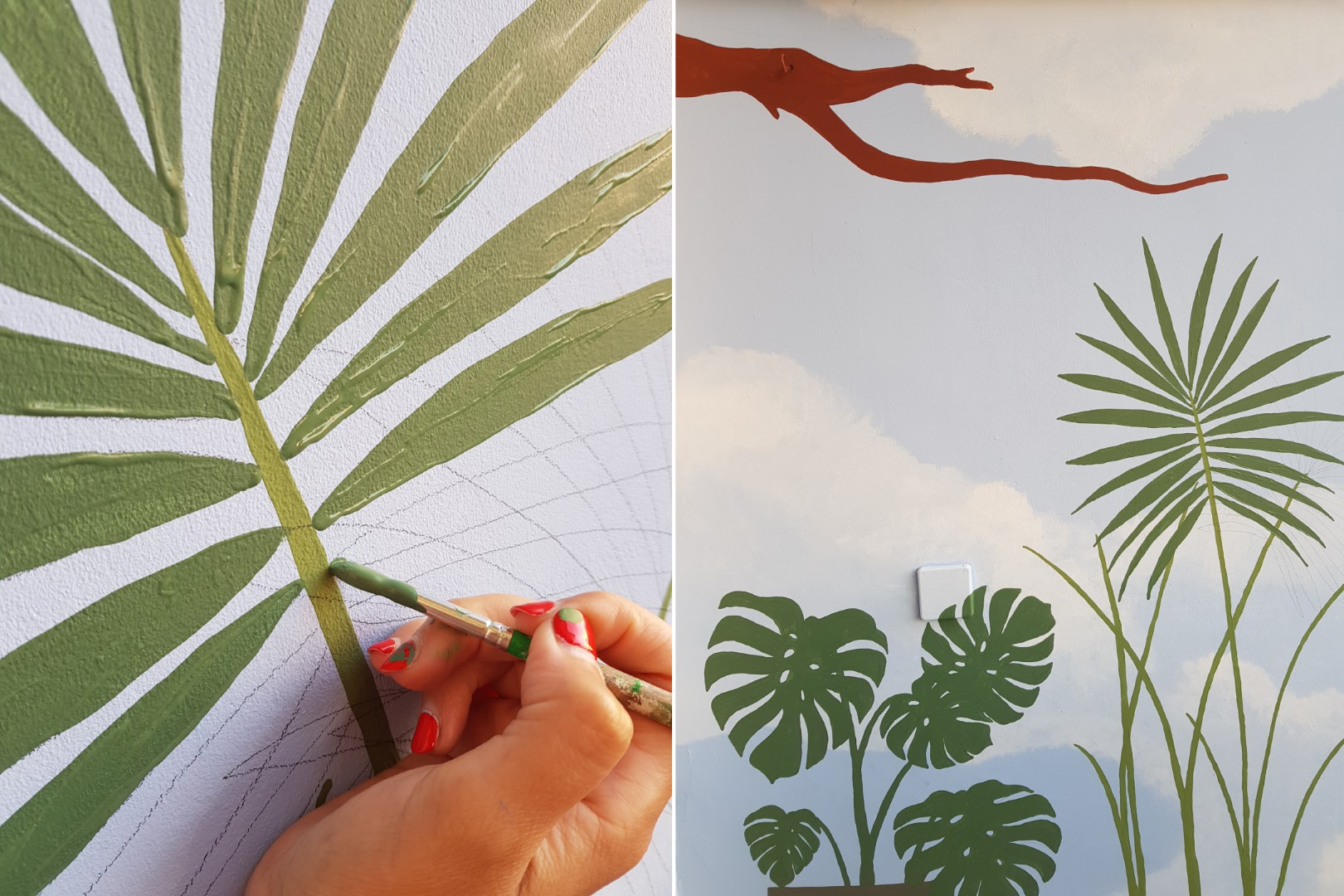צבעים, ציור קיר במרפסת